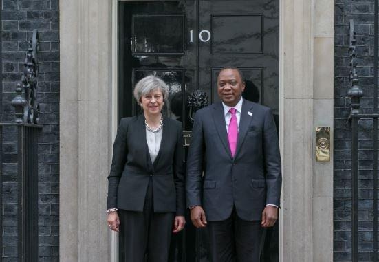 Kenyatta phones May over Manchester attack.