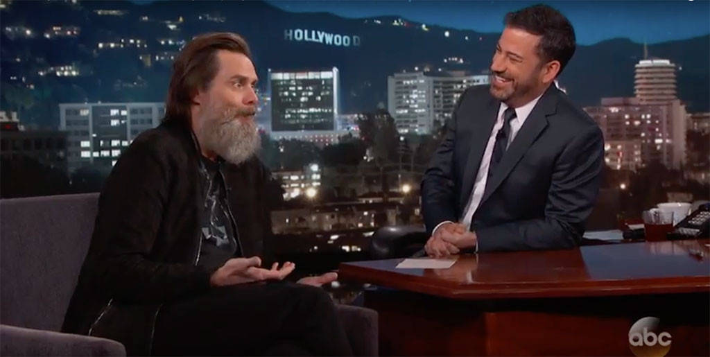 "Jim Carrey knows everyone is talking about his beard: ""It's a bigger star than me."""