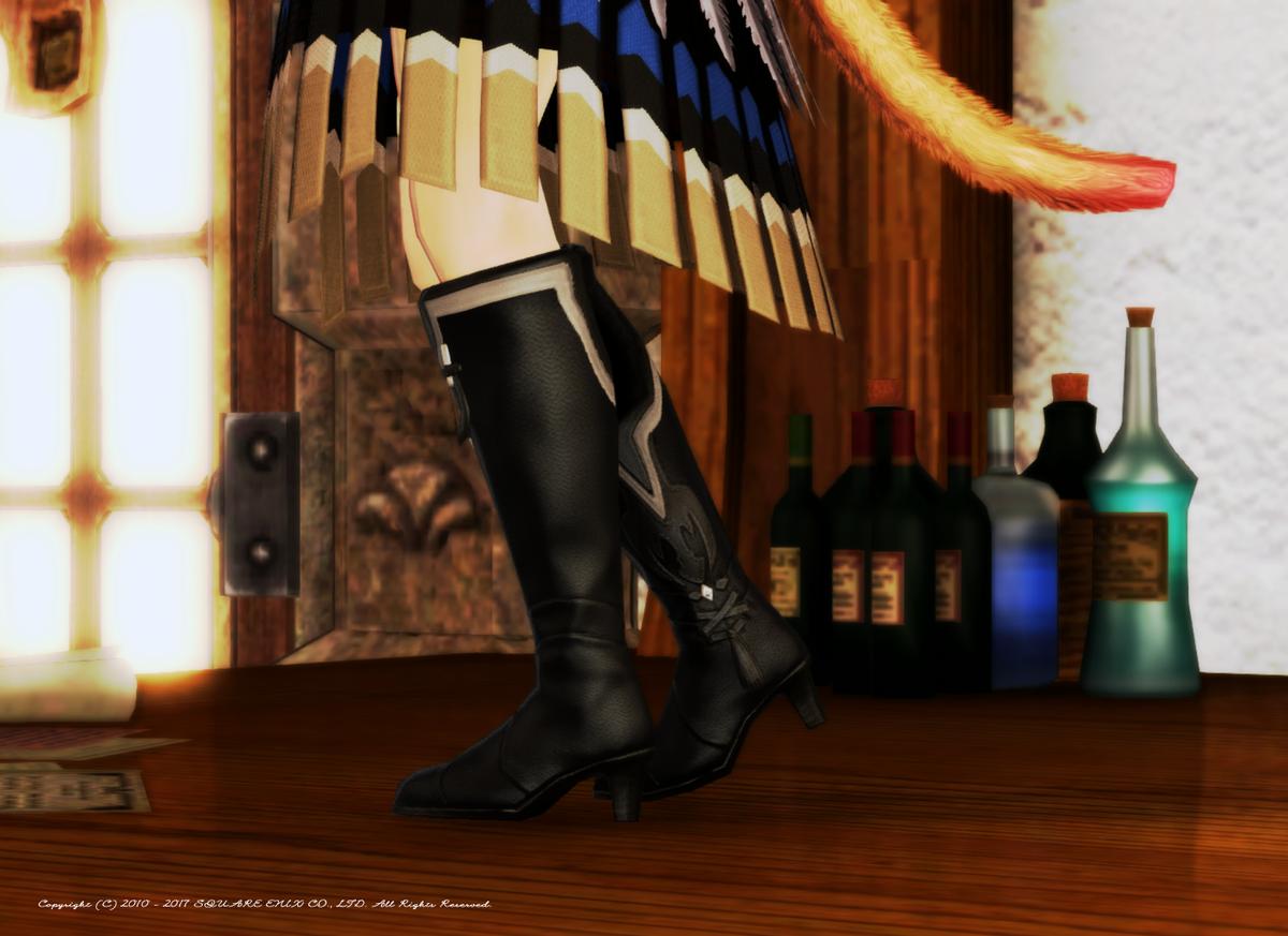 「魔戒法師の具足・陰」牙狼コラボPvP装備(♀専用)。実はあまり細身のヒールの靴は少なくて、お気に入りです!同じ理由で「