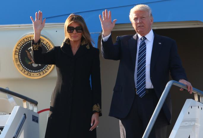 President Trump arrives in Italy on flight from Israel to meet with @Pontifex: