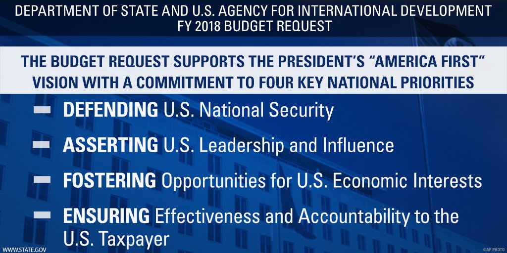 Learn more about the FY 2018 budget request for @StateDept and @USAID