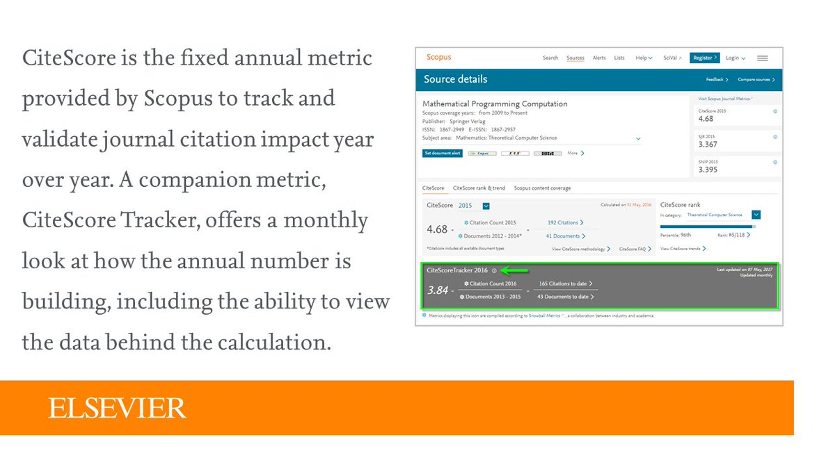 test Twitter Media - #ScopusTip: Get an indication of how a journal's #CiteScore 2016 is tracking with  CiteScore Tracker: https://t.co/4dShKA7grM https://t.co/ulMpisTCbW