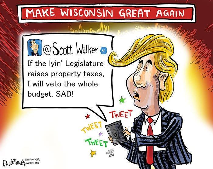 Hands on Wisconsin: Scott Walker tries to trump the Legislature