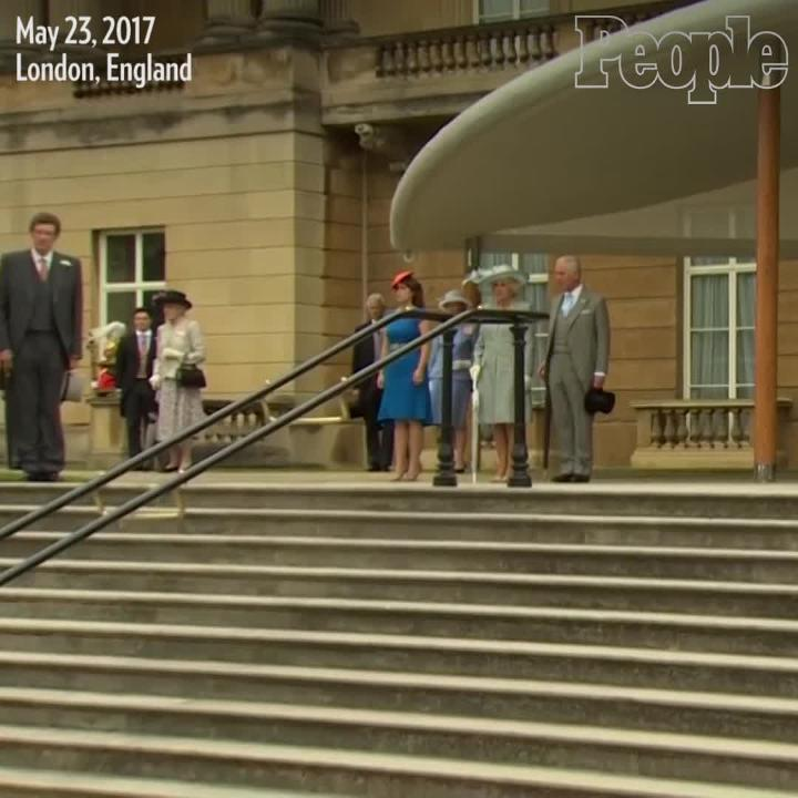 The royal family holds a moment of silence for the Manchester terror attack victims