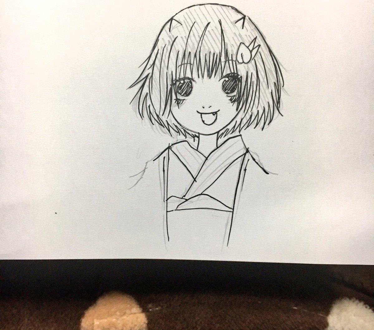 また落描き。ピーチ・マキちゃんを描いたよ。マキちゃん可愛すぎる大好きです。 #絵描きさんと繋がりたい  #絵描きの輪