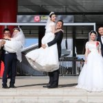 Chinese couples get married at SGR Nairobi terminus