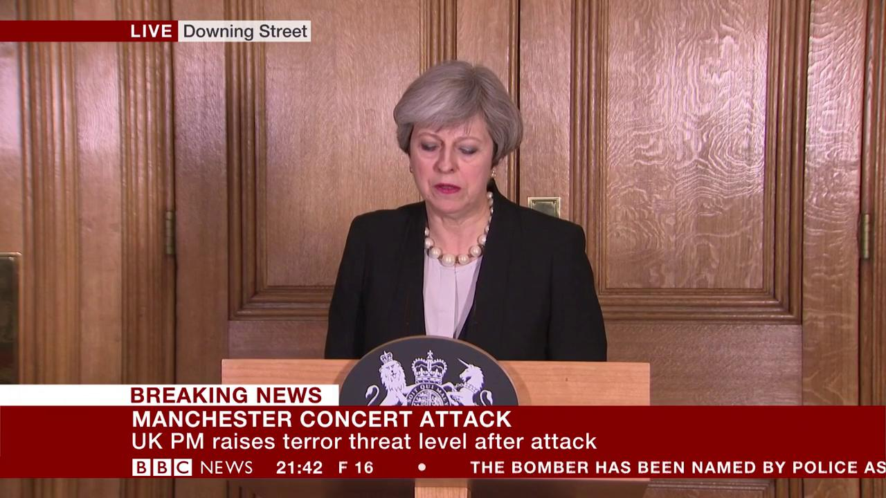 Members of armed forces to be deployed across the UK as terror level raised – PM Theresa May https://t.co/I7YngSds2C https://t.co/x9t9t1PRTs