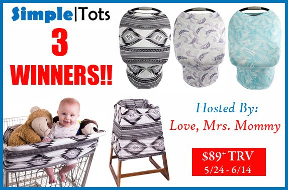 SimpleTots 5-in-1 Baby Cover Giveaway! 3 Winners! $89+ TRV!