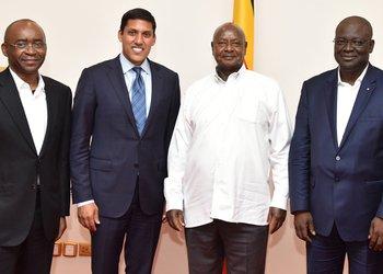 Museveni meets Rockefeller Foundation president