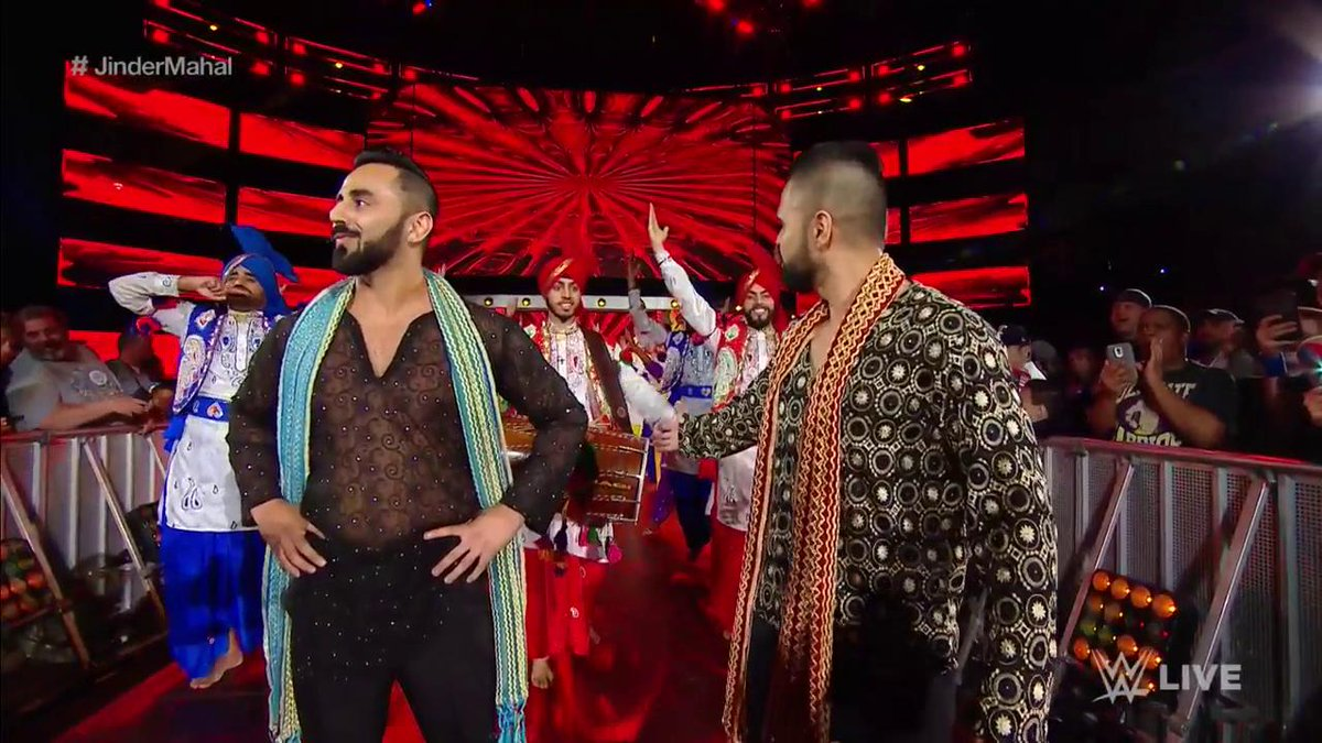 Let the #PunjabiCelebration BEGIN, because here comes the NEW @WWE Champion @JinderMahal! #SDLive #JinderMahal
