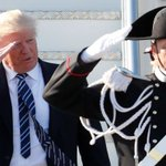 Donald Trump Arrives In Italy To Meet Pope Francis, Italian Leaders