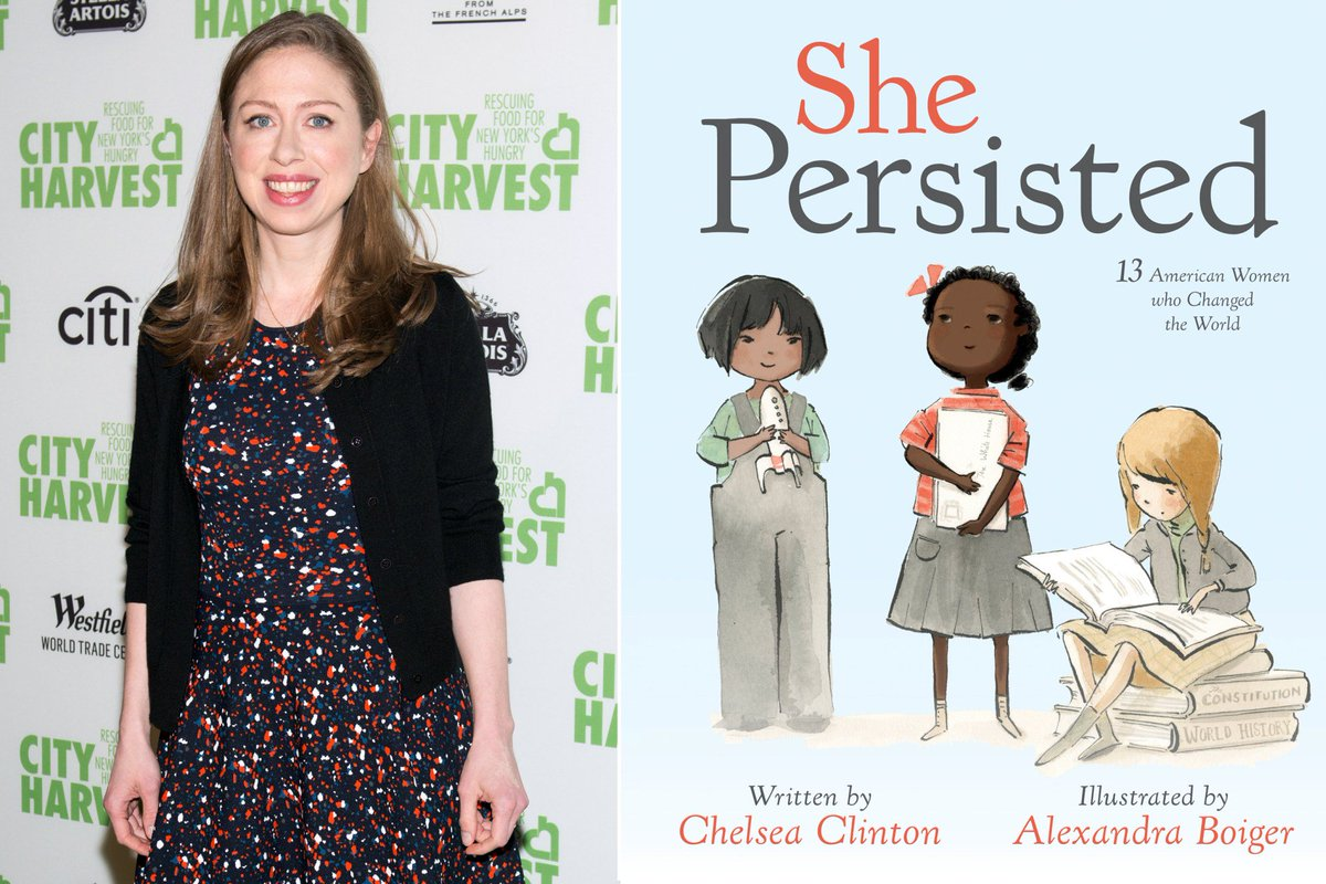 Chelsea Clinton explains why Hillary isn't in her picture book, ShePersisted: