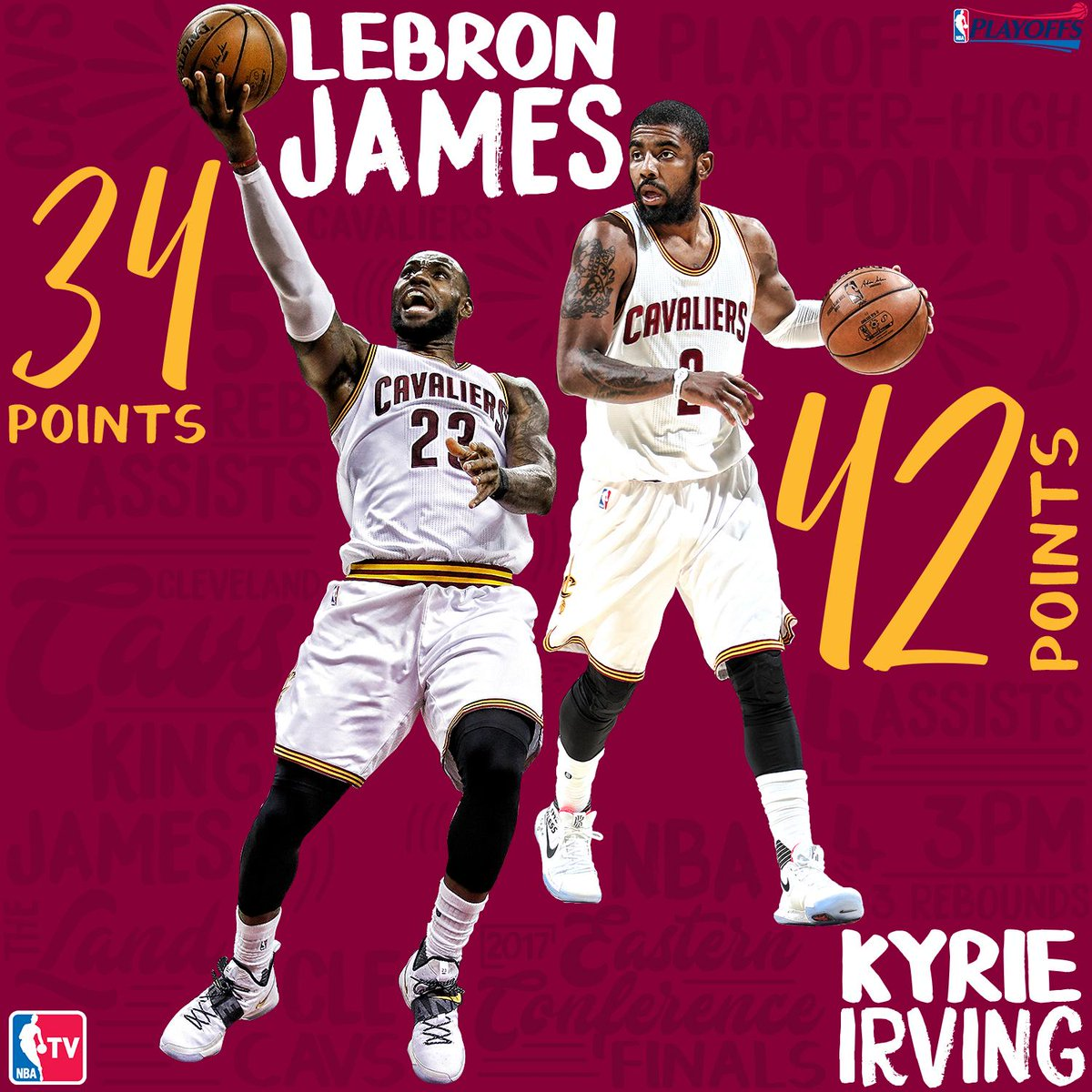 Uncle Drew (Playoff Career-High 42 points) & @KingJames put on a show in Game 4.#NBAPlayoffs