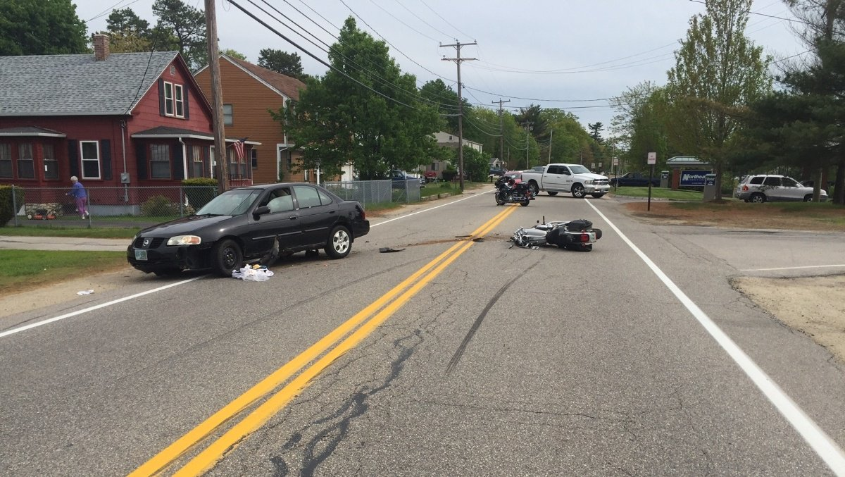 76-year-old motorcyclist flown to Maine hospital after being hit by car