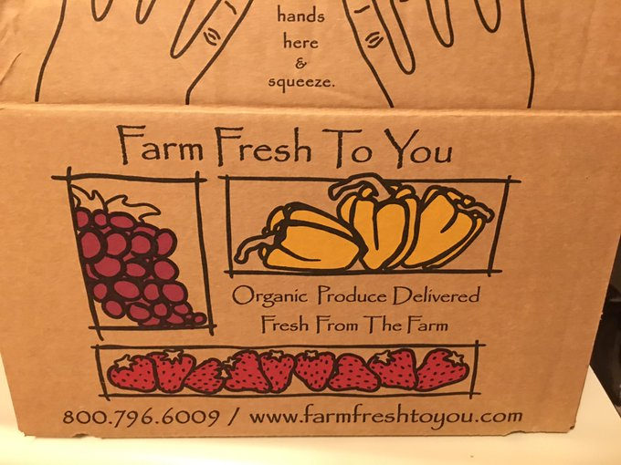2 pic. Wow! I signed up for @farmfreshtoyou and got my first delivery of organic goodies from local farms