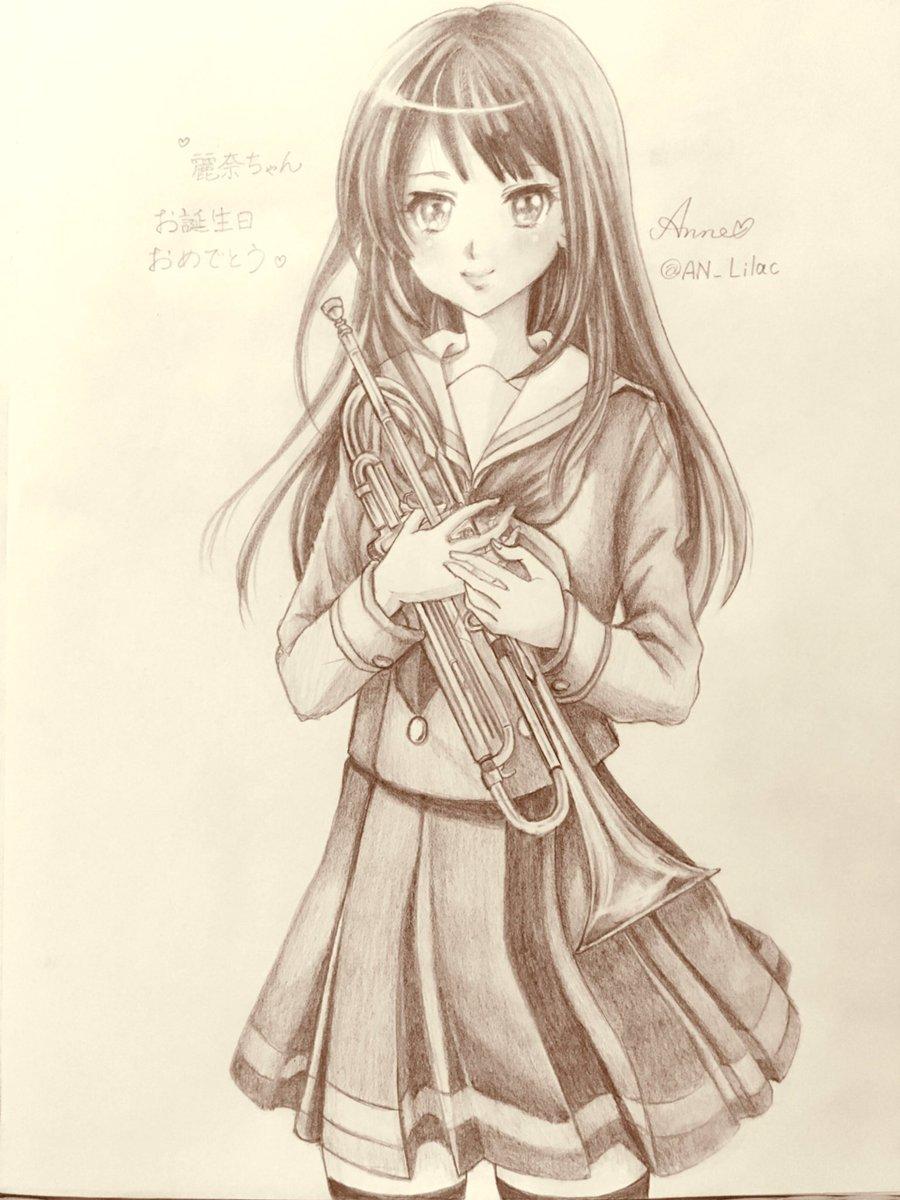 麗奈ちゃん、お誕生日おめでとう💓初めて描いたので、ファンの方、クオリティは許してください😣🙏💦でも、愛は込めました~(つ