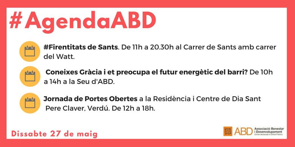 test Twitter Media - 📆📌 #Bondia us deixem la #AgendaABD d'avui dissabte 27.  A on ens acompanyaràs? @aguiteras @Fperezanton @BeniPilar https://t.co/Pay6P0vCNX