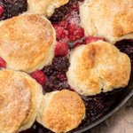 Cobble together skillet berry cobbler with a quick baking hack