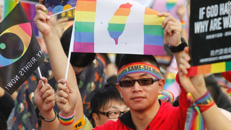A top court has cleared the way for Taiwan to recognize same-sex marriage