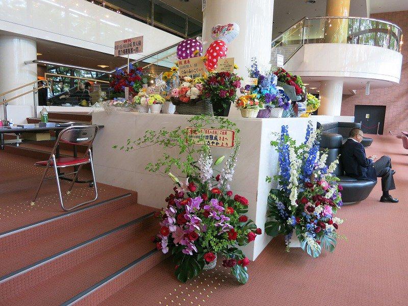 舞台「里見八犬伝青森公演」皆様からの花束の数々。#里見八犬伝 #リンクステーションホール青森 #青森に生まれて良かった