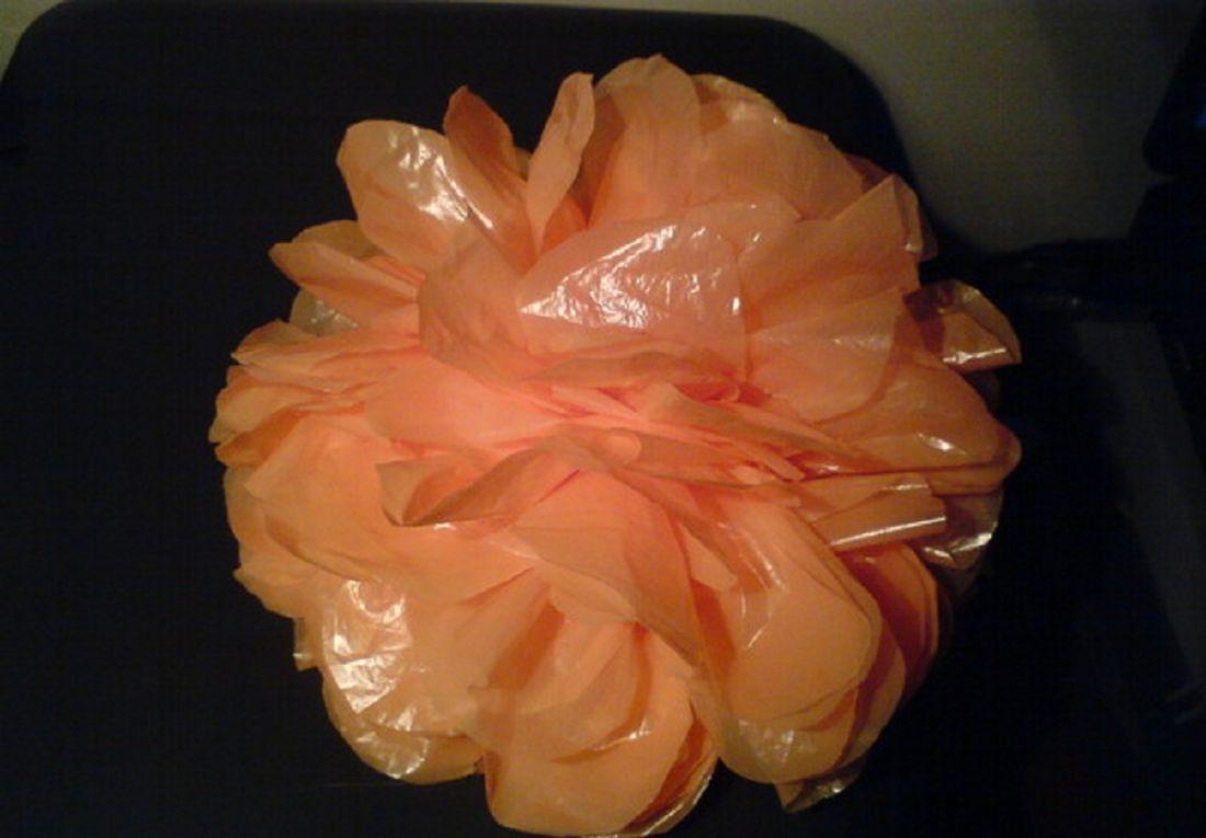 Цветы из пакетов своими руками мастер класс