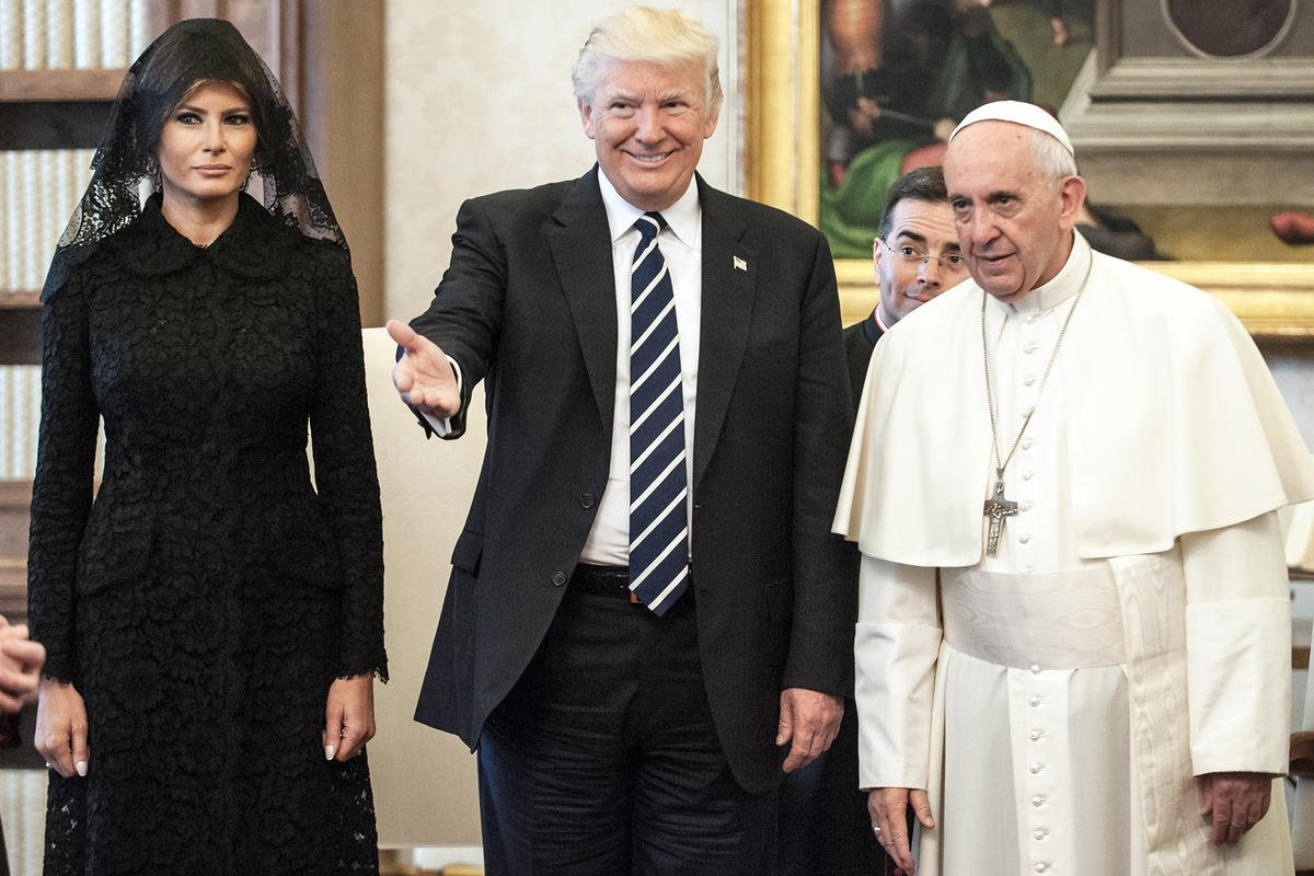 Pope Francis questions Melania about President Trump's diet: 'What do you give him to eat?!'