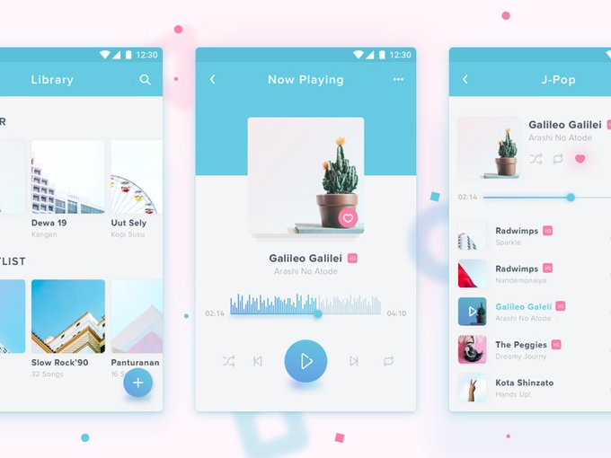 Music Player App   Template by Rian Darma freebie