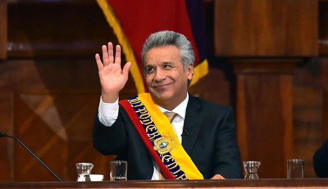 Socialist Lenin Moreno sworn in as Ecuador president