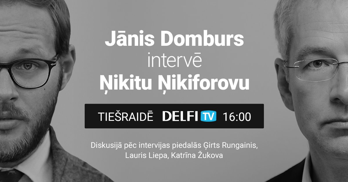 'Delfi TV ar Jāni Domburu': diskutē par Ņikiforova solīto. Video tiešraide