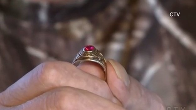 Class ring lost in 1980 found in Canada
