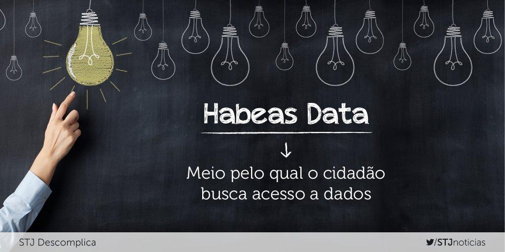 O Habeas Data é o instrumento processual por meio do qual o cidadão solicita acesso a dados relativos a ele.
