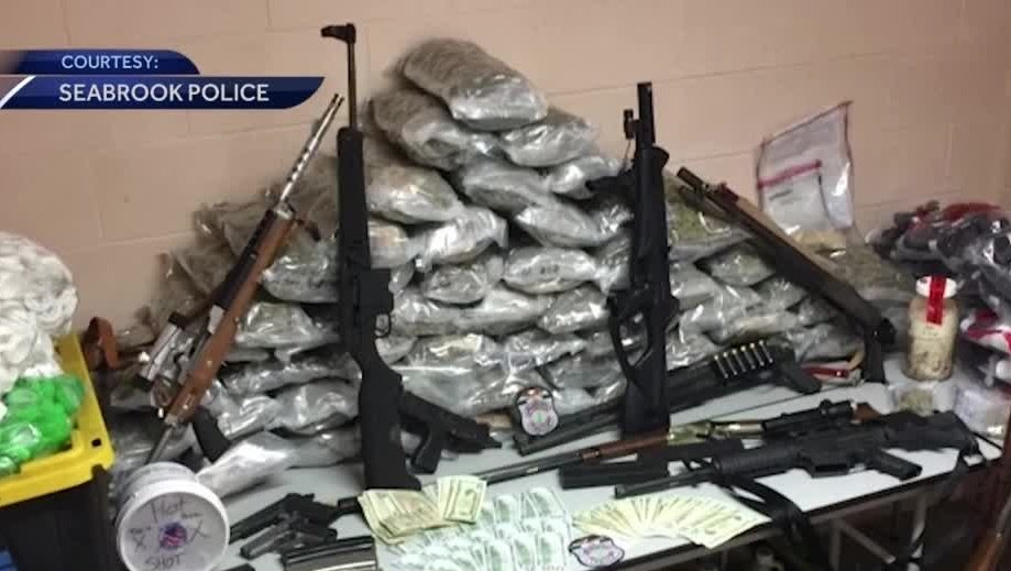 Drugs, guns found after house fire in Seabrook, police say