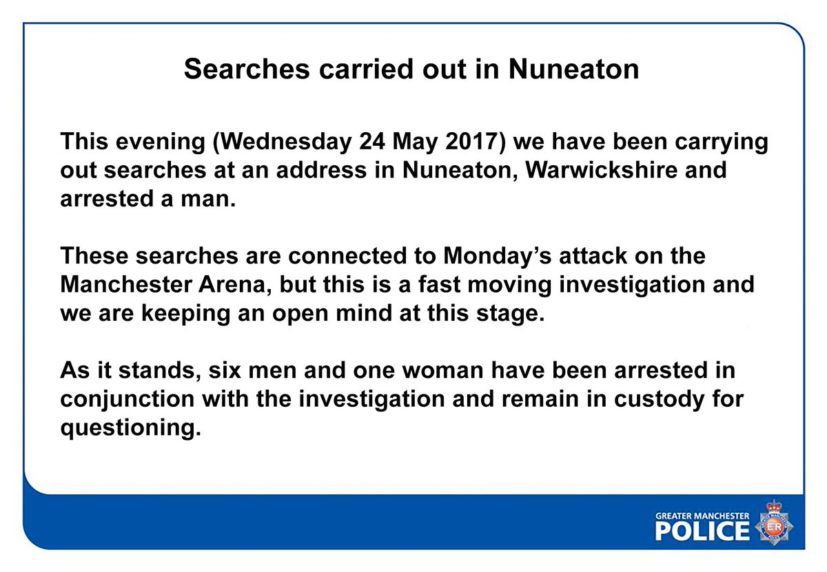 RT @gmpolice: Searches carried out in Nuneaton https://t.co/MYzehrc1Jj