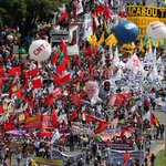 Thousands protest against Temer, reforms in Brasilia