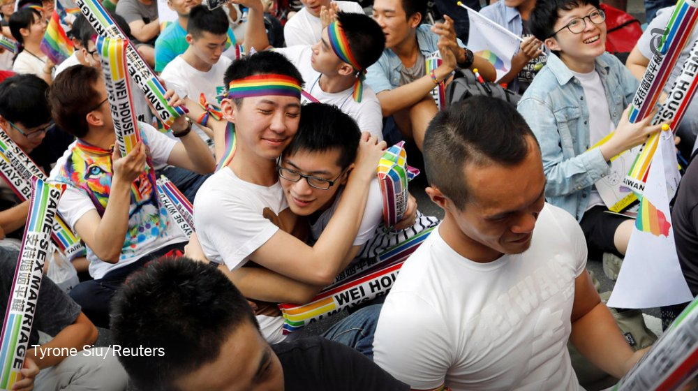 Taiwan could become the first place in Asia to recognize same-sex marriage