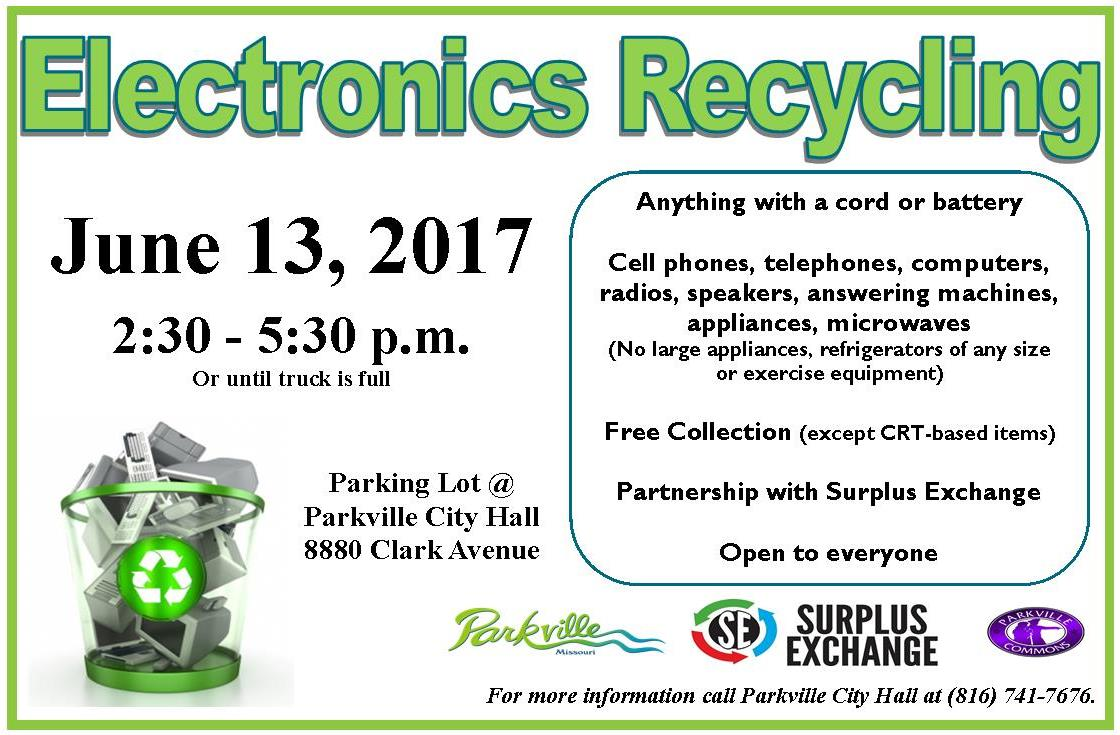 test Twitter Media - Less than 3 weeks until the next electronics recycling @parkvillemo City Hall parking lot Tuesday, June 13 2:30-5:30pm or until truck full. https://t.co/TyIDIKlLIq