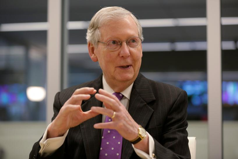 Exclusive: McConnell frets about healthcare, hopeful on tax overhaul