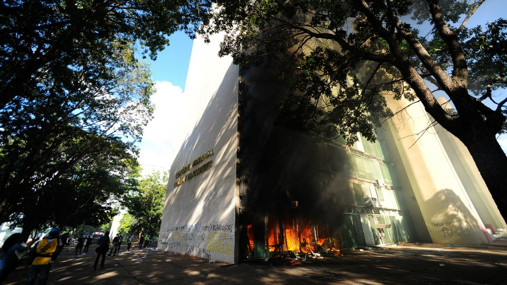 Brazil sends in troops after protesters storm ministries