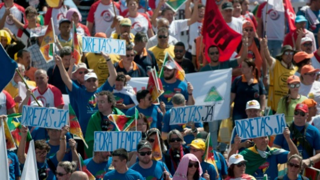Violence breaks out at Brazil protest