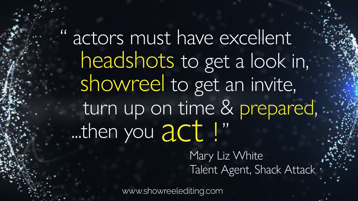 Find out why successful #actors & top #talentagents choose #specialist showreel editor @showreelediting: https://t.co/GQB3Z2njB3 #actorslife
