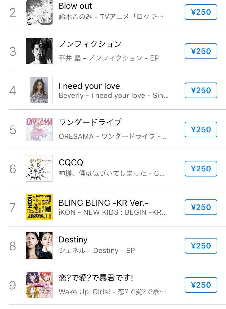 【iTunesランキング】恋?で愛?で暴君です!全体ランキングでも⑨位です!DLはこちらから!#WUG_JP