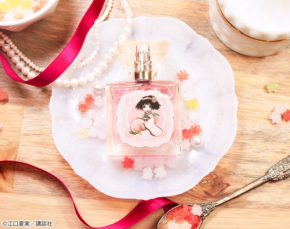 【鬼灯の冷徹フレグランス】とっても可愛い香りの「ピーチ・マキ」。ジューシーで可愛らしいピーチの香りです。可愛いアイドルの