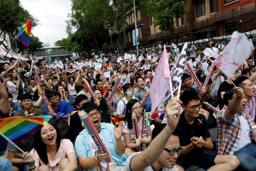 Taiwan same-sex marriage ruling brightens outlook for gay rights in China