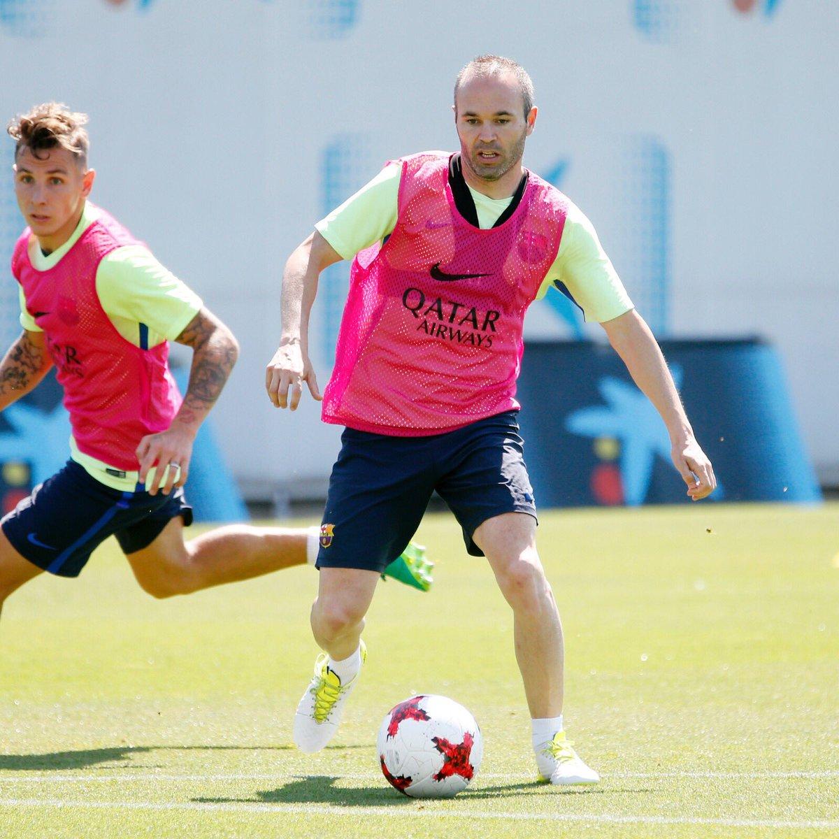 Preparando último partido de la temporada! Buenas sensaciones! Força Barça!!