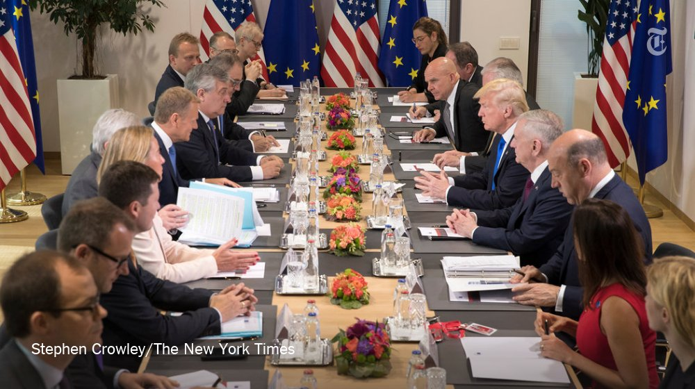 Trump is in Brussels, and disagreement on Russia emerges