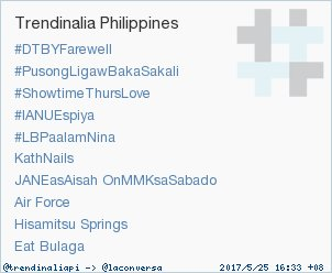 RT @trendinaliaPI: Trend Alert: #LBPaalamNina. More trends at https://t.co/dRwxiUtCOV #trndnl https://t.co/xrUPy8rS5K