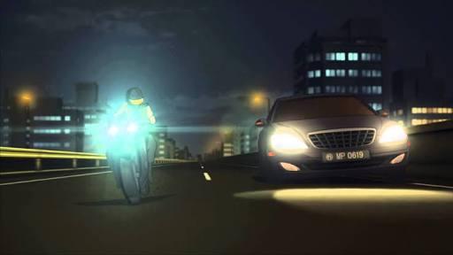 パトカー追跡のオートバイ転倒 男性けが 5/22 15:35#残響のテロル 10.HELTER SKELTER ナインを