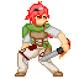 """六花の勇者より、""""地上最強の男""""アドレット・マイア物語の主人公。最弱にして最強。剣を持たせてるけどどちらかというと針か煙"""
