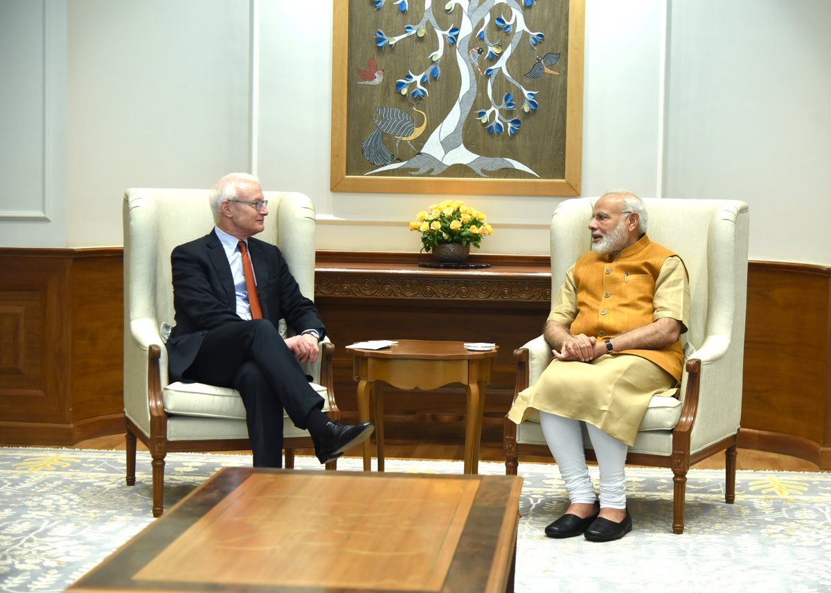 Had a very insightful meeting with Prof. Michael Porter, a leading strategic thinker and economist.