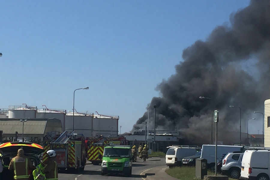 Man in hospital after fire at La Collette
